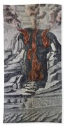 Mount Vesuvius, 1665 Beach Towel