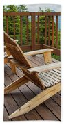 Mountain Adirondack Chairs Beach Towel