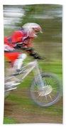 Mountain Bike Rider Beach Towel