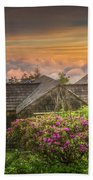 Mountain Flowers At Sunrise Beach Towel