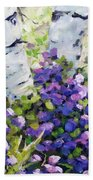 Mountain Flowers Beach Towel