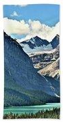 Mountain Glacier And Lake  Beach Towel