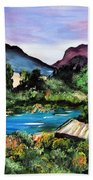 Mountain Lake Beach Towel