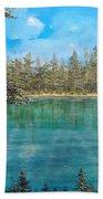 Mountain Lake Beach Towel