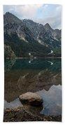 Mountain Lake Reflection Beach Towel