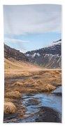 Mountain Landscape Iceland Beach Towel