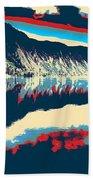 Mountain  Landscape Poster Beach Towel