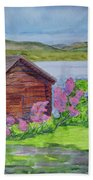 Mountain Laurel By The Cabin Beach Towel