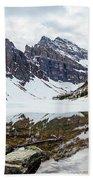 Mountain Picture Lake Agnes Beach Towel