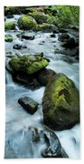 Mountain River Beach Towel