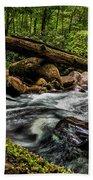 Mountain Stream Iv Beach Towel