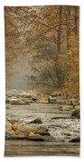 Mountain Stream With Tree Overhang #1 Beach Towel