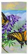 Mountain Swallowtail Beach Towel