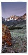 Mountain Textures And Light Beach Towel