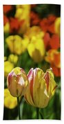 Mountain Tulips Beach Towel