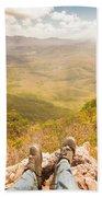 Mountain Valley Landscape Beach Towel