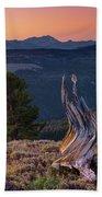 Mountain Wood Formation Beach Towel