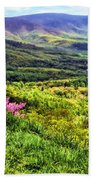 Mountains And Valleys Beach Towel