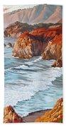 Mountains Bow Down Beach Sheet