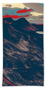 Mountains By Red Road Beach Towel