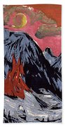 Mountains In Winter Beach Towel by Ernst Ludwig Kirchner