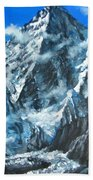 Mountains View Landscape Acrylic Painting Beach Sheet