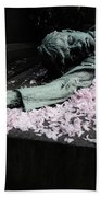 Mourner Statue Beach Towel