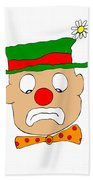 Mournful Clown Beach Towel