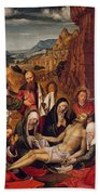 Mourning Over The Dead Body Of Christ Beach Towel