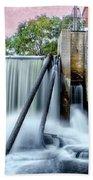 Mousam River Waterfall In Kennebunk Maine Beach Sheet