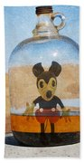 Mouse In A Bottle  Beach Towel