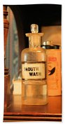Mouth Wash In The Old Days Beach Towel