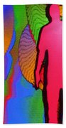 Human Movement In Color Beach Towel
