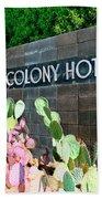 Movie Colony Hotel Palm Springs Beach Towel