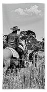 Moving Cattle Beach Towel