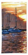Moving Toward The Light Beach Towel