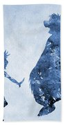 Mowgli And Baloo-blue Beach Towel