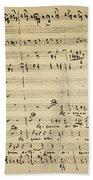 Mozart: Requiem Excerpt Beach Towel
