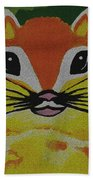 Mr Chipmunk Beach Towel