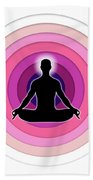 Meditation With Yoga Beach Towel
