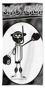 Mr. Jock Beach Towel by Maria Watt