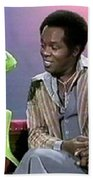 Mr Lou Rawls - Kermit The Frog Beach Towel