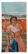 Mrs. Curry And Son Beach Towel