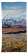 Mt Denali View From Eielson Visitor Center Beach Towel