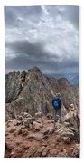 Mt Eolus And The Catwalk From North Eolus - Chicago Basin - Weminuche Wilderness - Colorado Beach Towel