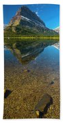 Mt. Grinnell Beach Towel by Gary Lengyel