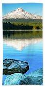 Mt. Hood In Trillium Lake Beach Towel