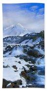 Mt. Hood Morning Beach Towel by Mike  Dawson