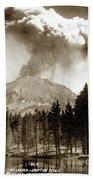 Mt. Lassen In Eruption Oct. 6, 1915 Beach Towel