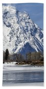 Mt Moran From Oxbow Bend Beach Towel